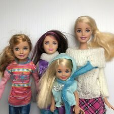 Barbie & Sisters Family Doll Bundle Skipper Stacie Chelsea Winter Clothes VHTF