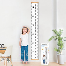 Mibote Baby Growth Chart Handing Ruler Wall Decor for Kids, Canvas Removable x