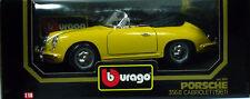 9 BURAGO PORSCHE 356B CABRIOLET 1961 JAUNE N°3031