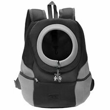 New listing Mogoko Cat Dog Backpack Carrier, Puppy Pet Front Pack M for 0~7.0 lbs, Black