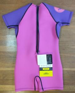 Body Glove Child Wetsuit Springsuit Medium Purple Pink # 21167GWM New