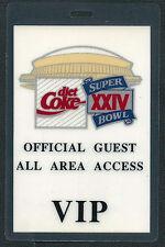 Super Bowl XXIV Coca-Cola VIP Guest Pass New Orleans Superdome 49'ers vs Broncos