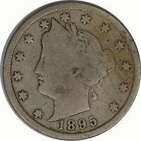1895 5C Liberty V Nickel Raw Circulated US Coin