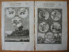 1683 - MALLET - Prints CONSTELLATIONS Ursa Min. Maj. Whale Cassiopeia Andromeda
