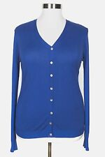 LANE BRYANT WOMEN'S BLUE LONG SLEEVE BUTTON LIGHT KNIT CARDIGAN  PLUS Sz 18/20W