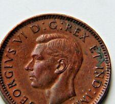 1943 CANADA George VI Coin - 1 Cent - die crack - Zoell variety FL66g