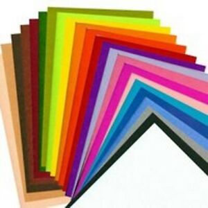 Bastelfilz 20x30 cm - 1mm oder 2mm Stärke - 20 versch. Farben zur Wahl