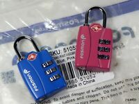 IT Luggage Beach Stripes Blue Pink 4 Wheel Semi Expander Medium TSA Lock 70cm