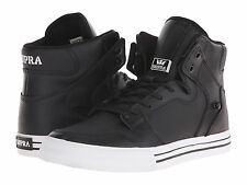 NEW NEW SUPRA VAIDER BLACK WHITE LEATHER SURF SNOW SKATEBOARD SPORTS SHOES 14