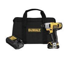 DeWALT 1/4 Cordless Impact Driver Kit 12V MAX  DCF815S1 Tool-Battery-Charger-Bag