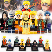 8pcs Naruto Sasuke Uchiha Itachi Jiraiya Hatake Kakashi Figures Lego Minifigures