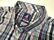 Johnnie-O Performance Fabric Winton Blue Plaid Sport Shirt Large $125