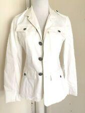 Ralph Lauren Collection Cotton Women's White Blazer Sz 8