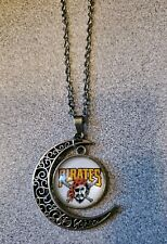 PITTSBURGH PIRATES BASEBALL SILVER PENDANT NECKLACE ADULT / KID NEW CHRISTMAS