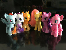 "6pcs My Little Pony Main Characters 3"" Toy Figure Set New out of Package"
