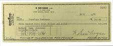 Ben Hogan Signed 1990 Personal Bank Check #3182 JSA