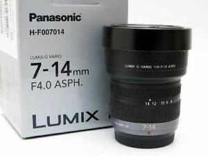 Panasonic Lumix G Vario 7-14mm F4 ASPH. ED Zoom Lens Excellent from Japan F/S
