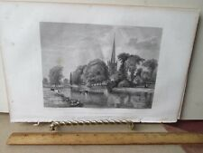 Vintage Print,CHURCH,Ladies Repository,c1857