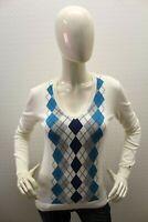 Maglione TOMMY HILFIGER Donna Sweater Pullover Pull Maglia Woman Taglia Size XS