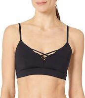 Alo Yoga Women's 246459 Interlace Sports Bra Black Underwear Size S
