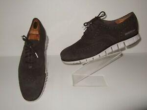 Cole Haan Zerogrand Black Suede Casual Wingtip Oxford Shoes Mens Sz.10.5 M