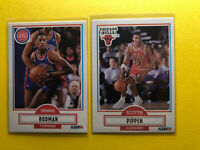2x Lot 1990-91 Fleer SCOTTIE PIPPEN & DENNIS RODMAN Chicago Bulls Last Dance 🏀