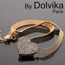 Luxus Statement Kette Dolvika Paris Halskette Collier Herz Strass