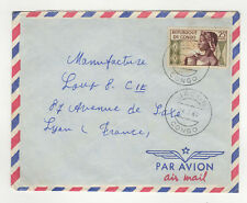 Répuplique du Congo 1 timbres  sur lettre 1960 tampon Jacob /L78