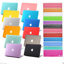 2in1 Rubberized Hard Laptop Cut out Case Cover For Macbook Pro Air 11 12 13 15