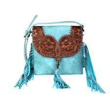 Montana West Trinity Ranch Crossbody Bag Fringe Leather Western Handbag Purse