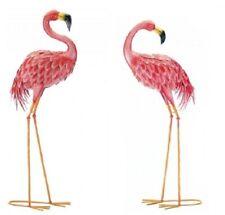 Flamingo Yard Art Bird Stakes Decor Ornament Pink Lawn Statue Outdoor Figurine