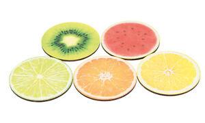 Getränke Untersetzer Früchte Set 5 Stück
