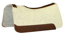 """1"""" NATURAL Horse Contour Wool Felt Saddle Pad,30x30, 5 Star Equine Products"""