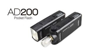 NEW Godox AD200 TTL HSS 2.4G HSS 1/8000 Wireless Pocket Head Light Flash UK
