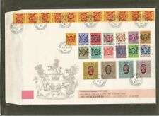 Hong Kong 1987 QEII Defin Stamps 10c - $50 Set 16 Last Day Cover