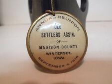 1916 Madison County Winterset Iowa Celluloid Fob Dr. L.M. Tidrick