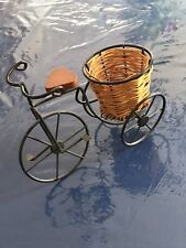 Wine Wicker Basket in a Bicycle