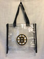BOSTON BRUINS NHL CLEAR STADIUM TOTE BAG LOGO