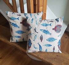 Quilted Cushion, Fish Pattern