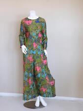 vtg 60s hippy boho paisely DAMASK festival colorblock PUCCI palazzo jumpsuit