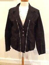 Edgy Sz 14 VSSP Black Cotton Jacket NZ Designer