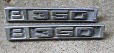 """1969 - 1972 Front Fender Emblems Engine Size """"8-350"""" Pair Chevy or GMC"""