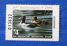 U.S. (NH10) 1992 New Hampshire State Duck Stamp (MNH)