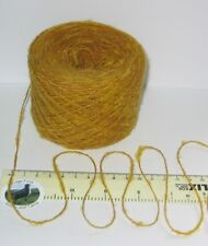 50g ball English Mustard Yellow 4 ply Wool soft fluffy knitting yarn brushed