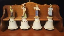 Norman Rockwell 1978 Bells Children Series Ii Limited Edition Set of 4 w/ Stand