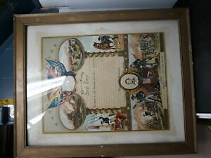 ANTIQUE CIVIL WAR ALLEGHENY COUNTY HONORABLE DISCHARGE HEAVY ARTILLERY FRAMED