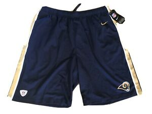 NFL Equipment Los Angeles Rams NIKE Dri Fit Team Issue Training Shorts XL NEW