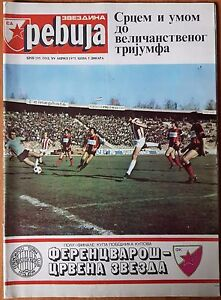 RED STAR Belgrade JOURNAL revue APRIL 1975 RED STAR vs FERENCVAROSI REAL MADRID