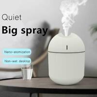 Portable USB LED Mini Car Home Humidifier Aroma Oil 220ml Diffuser Purifier C5B4