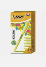 24-Pack BIC® Brite Liner Highlighter Marker- Chisel Tip Point - YELLOW